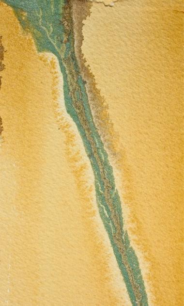 Naples yellow, watercolor landscape abstract, debiriley.com