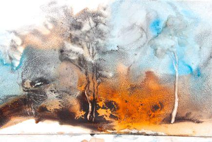 Lunar Black, Quincacridone Sienna, Daniel Smith watercolors, debiriley.com