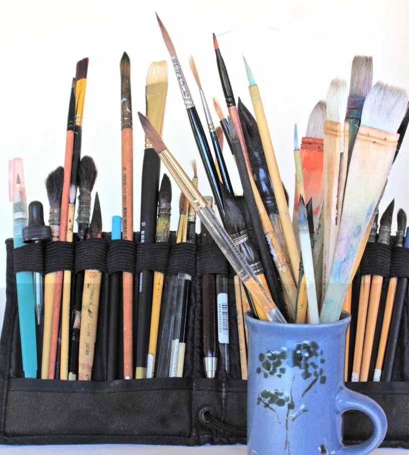 beginner Watercolor brushes, Hake, Rekab 320s #2, rigger, debiriley.com