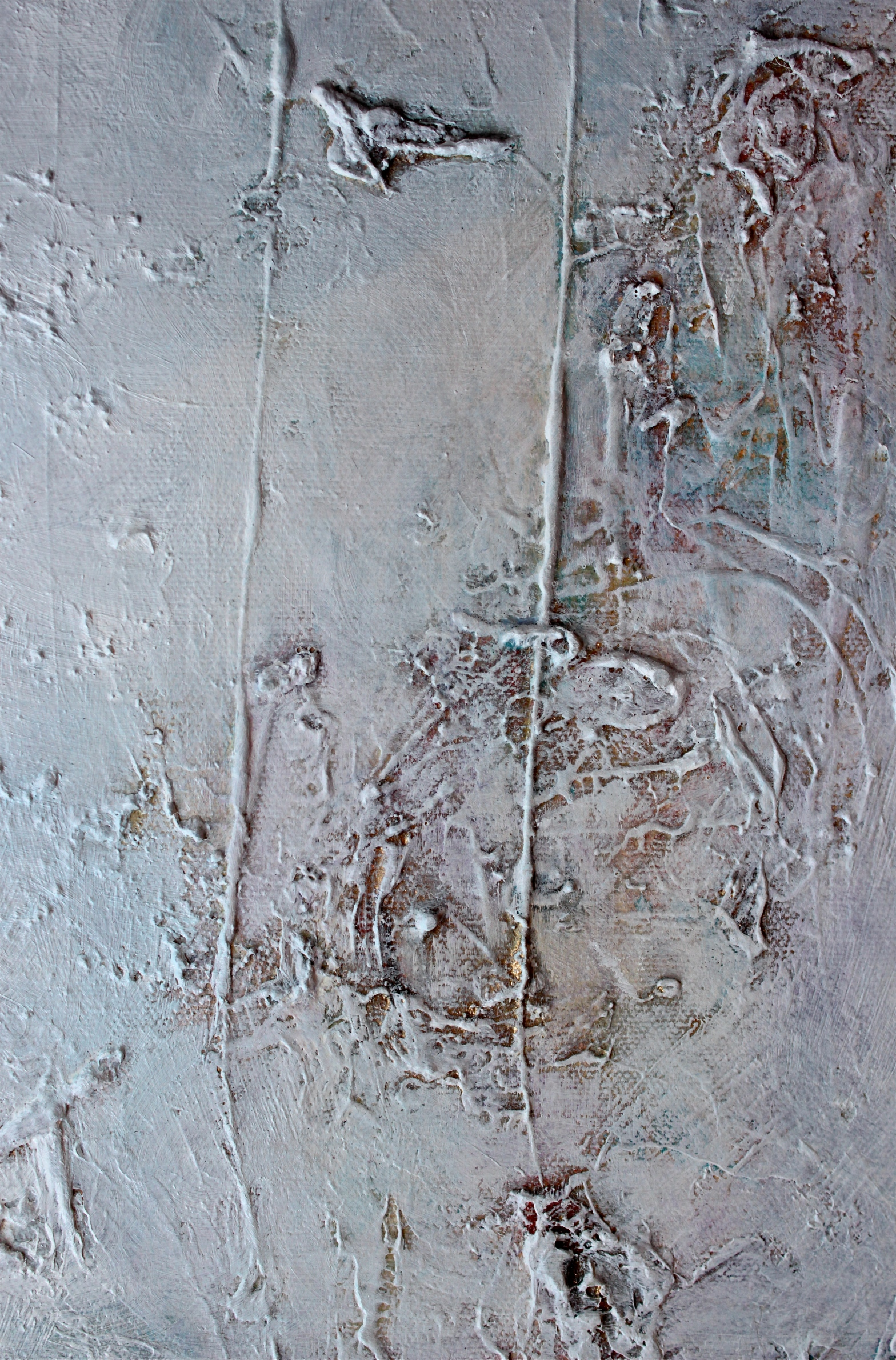 Snowfields, oil painting abstract debiriley.com