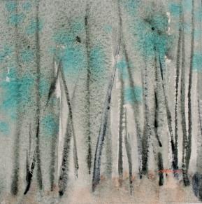 zen of colour: forest in cobalt teal blue pg50, debiriley.com