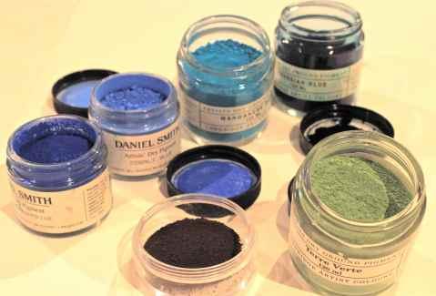 blue paint pigments, debiriley.com