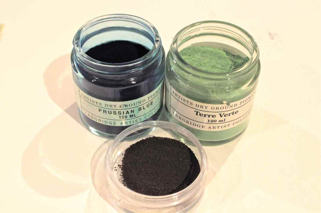 Green Earth, Prussian Blue and Burnt Umber: Making your own paints