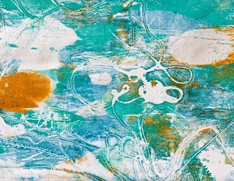 sea forms, cobalt teal blue, debiriley.com