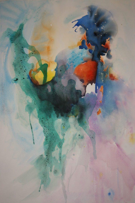 Viridian watercolor, radiance with cobalt violet watercolors, debiriley.com