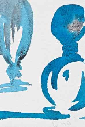 watercolour blue bottles