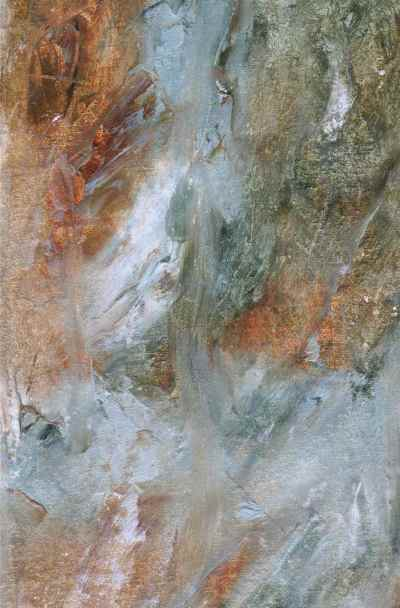 abstract oil painting, prussian blue, gold mix, debiriley.com
