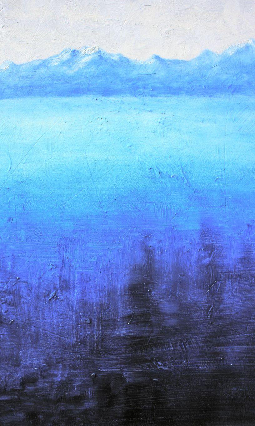 prussian blue pb27 oil paints, mountain, debiriley.com