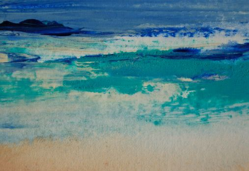 painting water easy techniques, debiriley.com