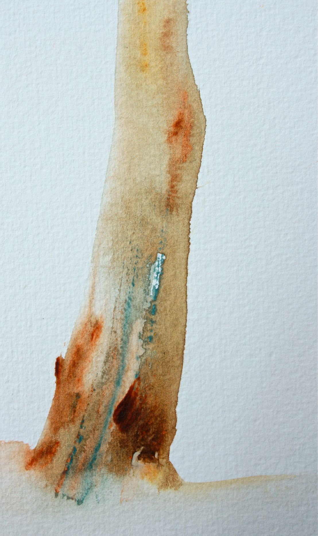 Watercolours with Paletteknife