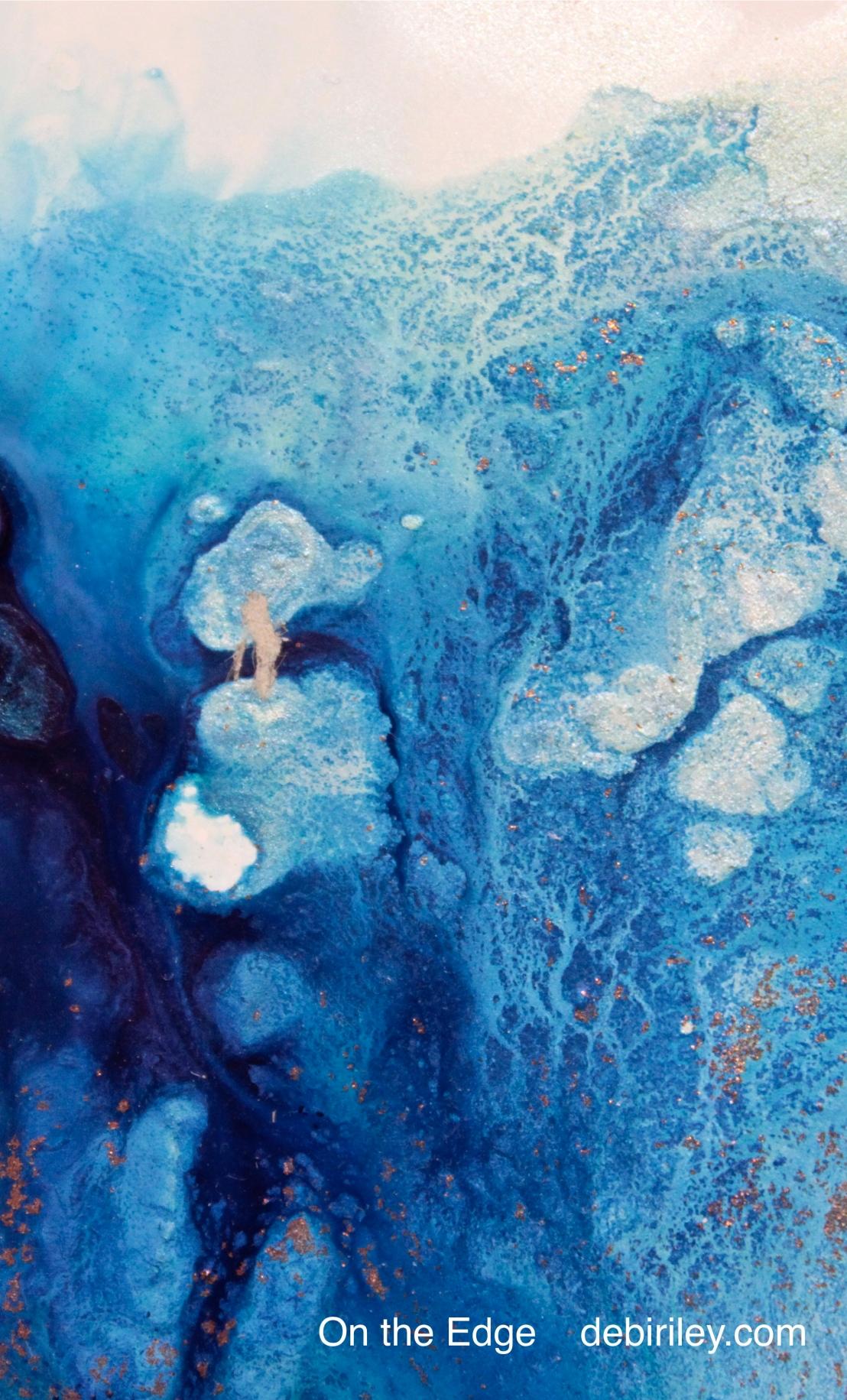 Using Your Imagination:  Indigo Blue and 24k GoldLeaf