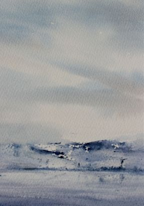 winter watercolour, debiriley.com