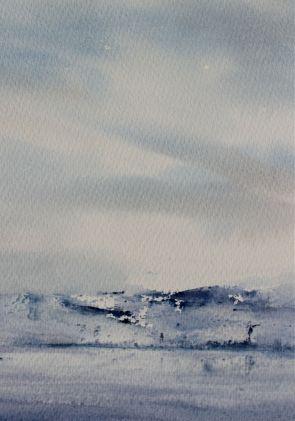 winter watercolour landscape debiriley.com