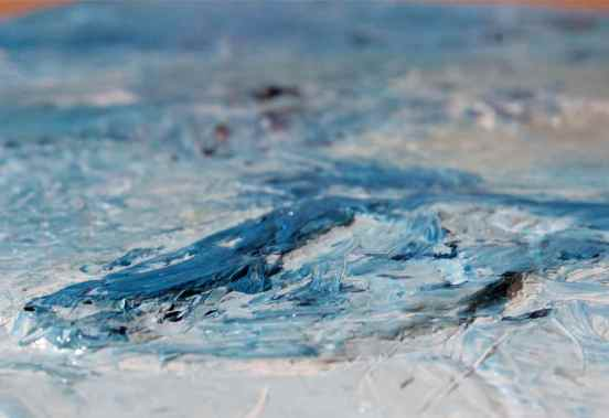 prussian blue pb27 oil paint mixes and textures, debiriley.com