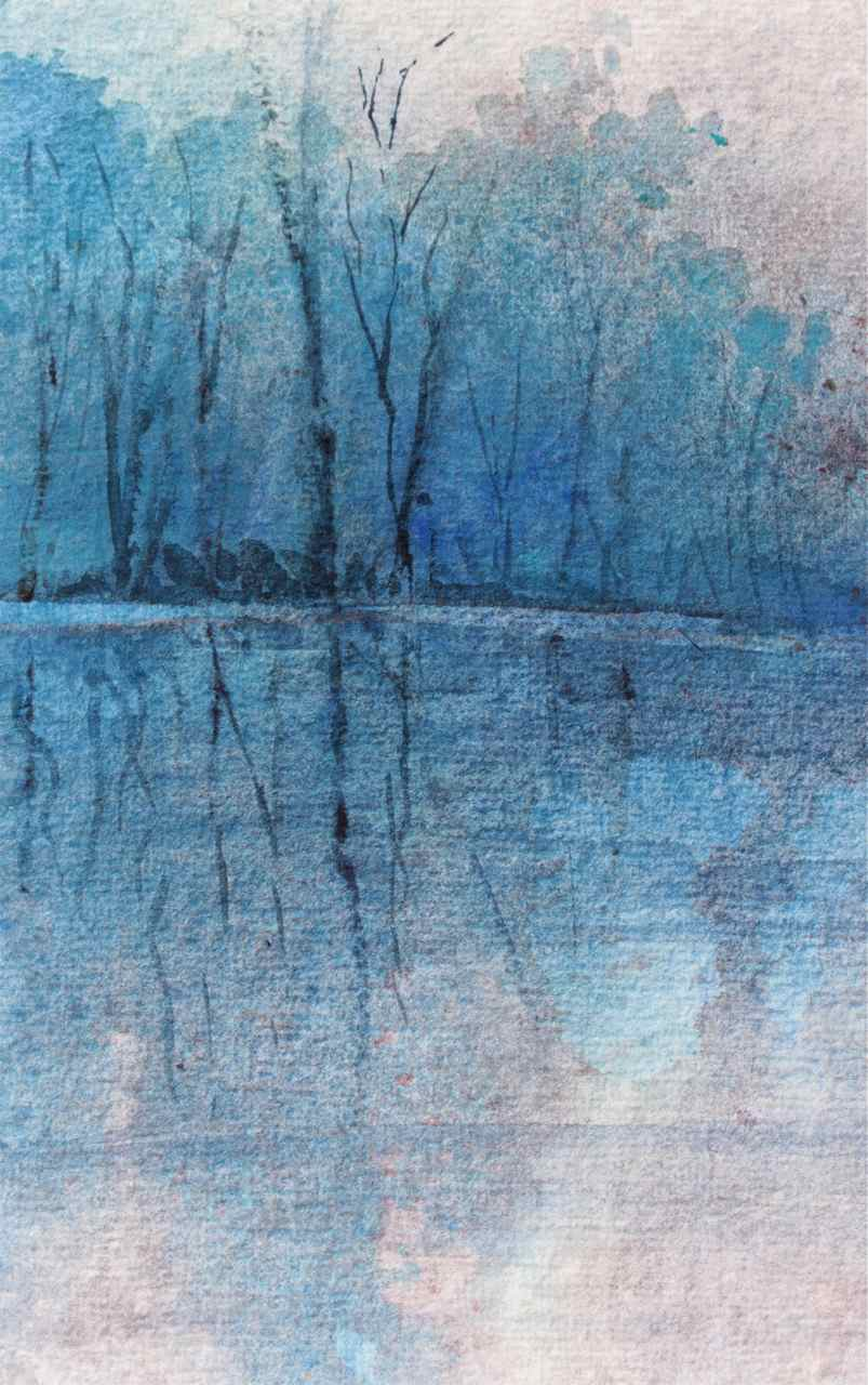 Watercolour Landscape: Cerulean andIndigo