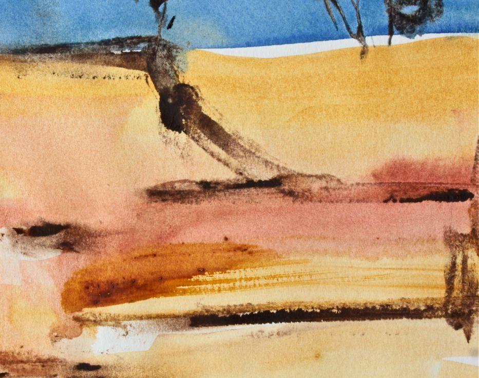 Watercolour Outback Landscape