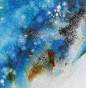 Blue Storm Watercolour debiriley.com