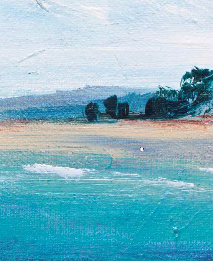 Acrylics Impressionist Beach debiriley.com