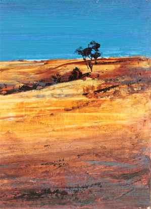 cobalt sky acrylic landscape debiriley.com