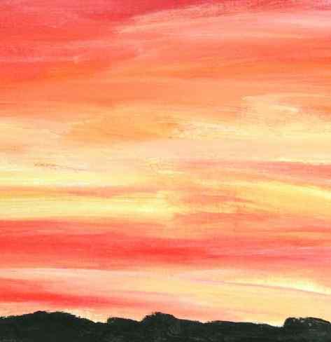 Warm Landscape - red, orange, yellow debiriley.com