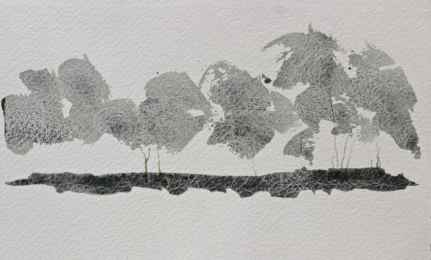 wabi sabi watercolour trees debiriley.com