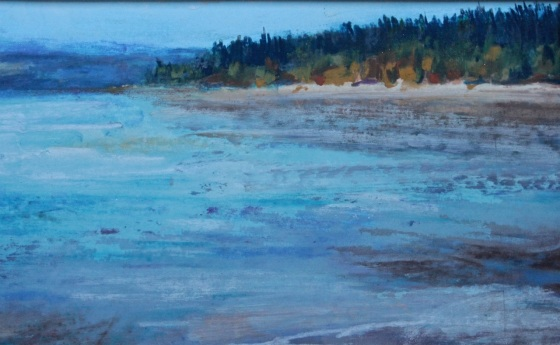 Foulweather Bluff, Kitsap Co. pastel painting debiriley.com