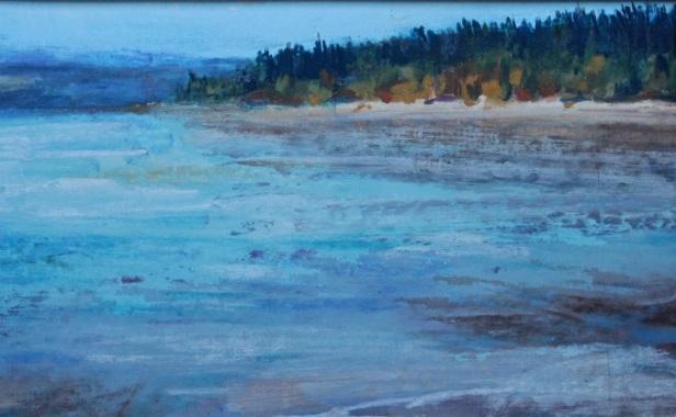 Foulweather Bluff, Kitsap Co. Washington,  pastel painting debiriley.com
