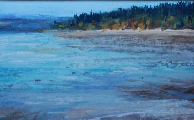 Impressionistic landscape in pastels debi riley for Landscaping rocks kitsap county