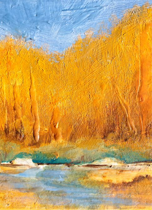A Golden grove wax encaustic debiriley.com
