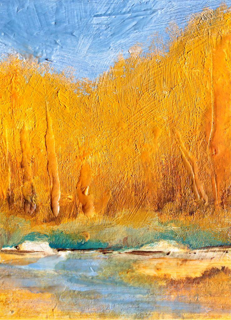 Golden wax encaustic debiriley.com