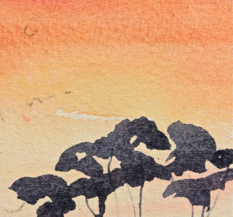 Watercolour Sunset forBeginners