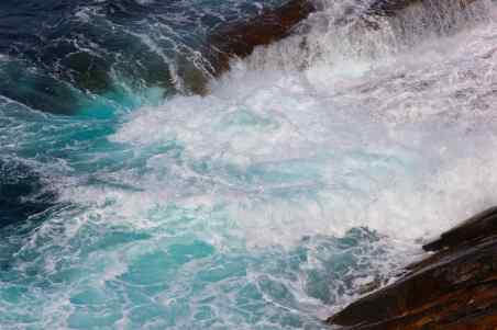 Sea Foam in cobalt teal, photo Esperance W.A. debiriley.com