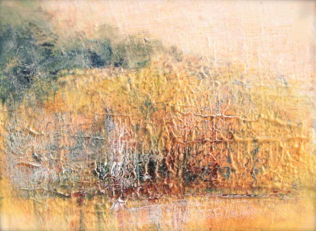 Autumn Aglow Impressionistic Landscape using PrussianBlue