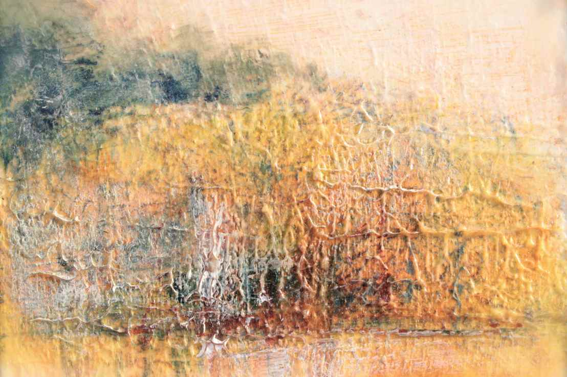 Autumn Aglow Impressionistic Landscape using Prussian Blue