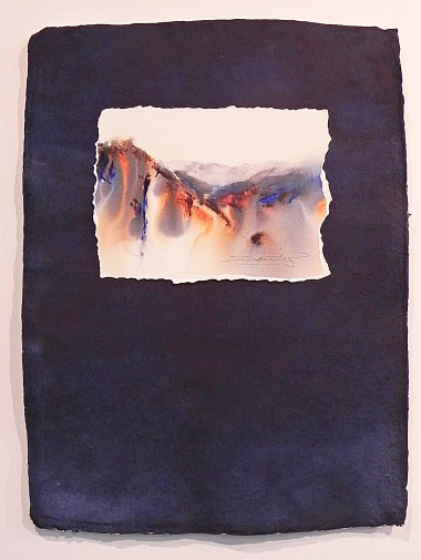 Watercolour Landscape Indigo and Indan Village paper