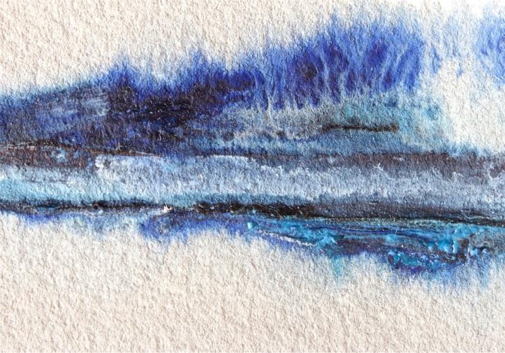 watercolour landscape with palette knife debiriley.com
