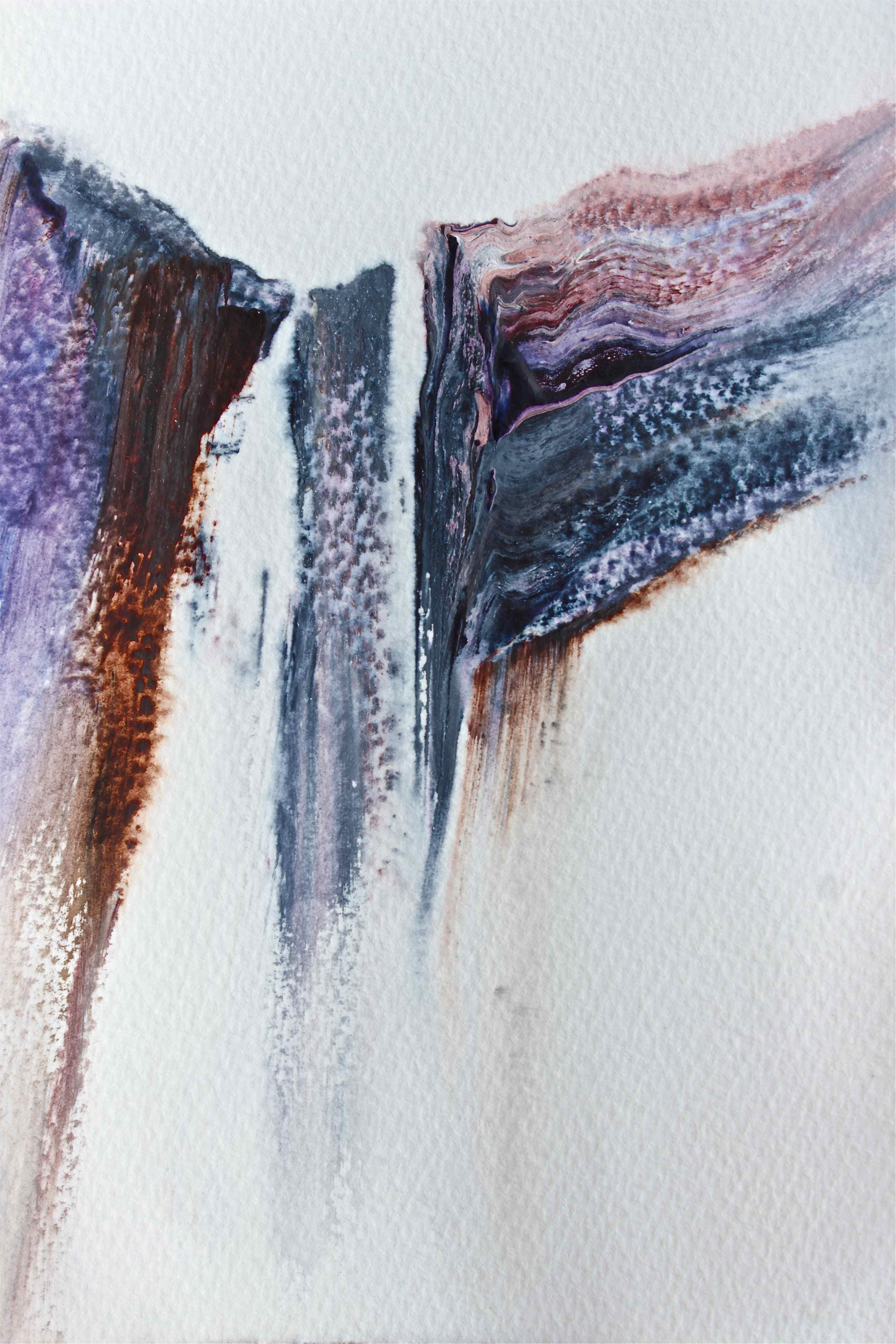 Snoqualmie Falls Washington, watercolour painting debiriley.com