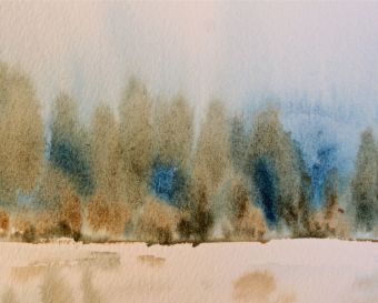 prussian blue and raw umber landscape debiriley.com