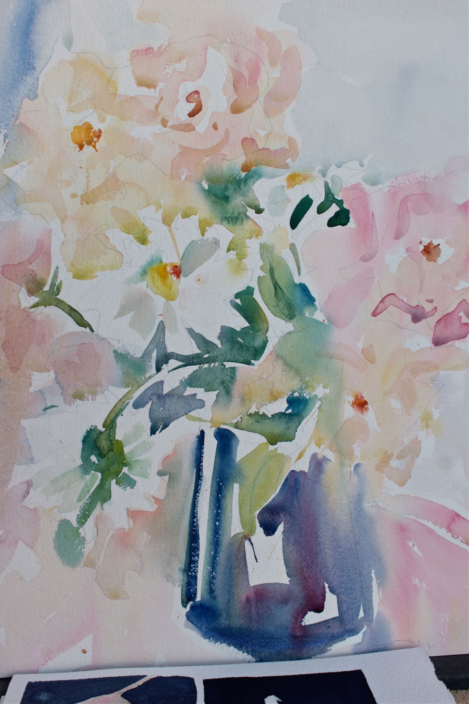 Mother's day bouquet in watercolour debiriley.com