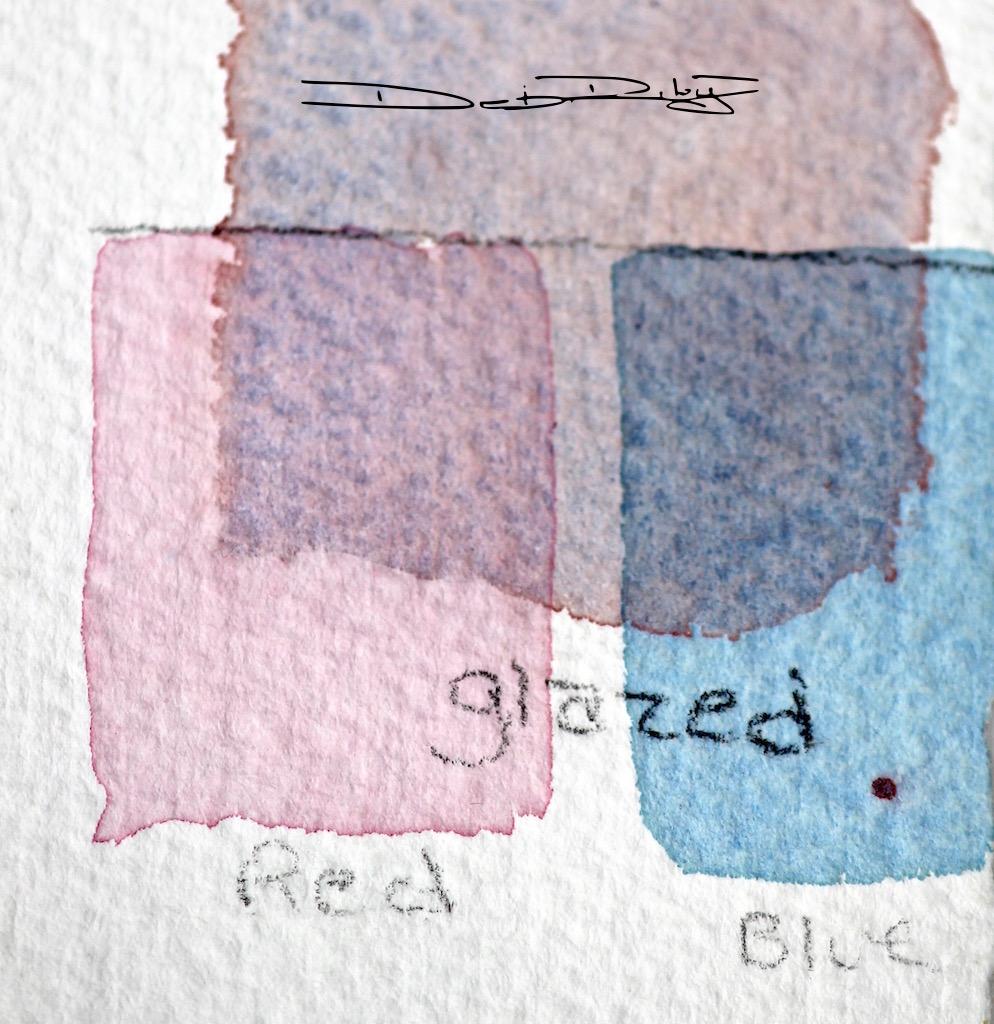 watercolour glazes, sheer veils of colour debiriley.com