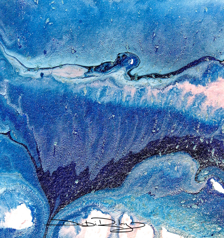 blue acrylic monochrome debiriley.com
