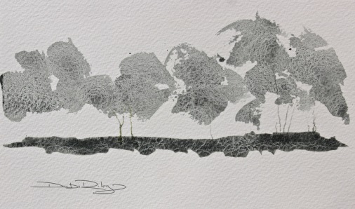 trees in the light watercolour landscape debiriley.com