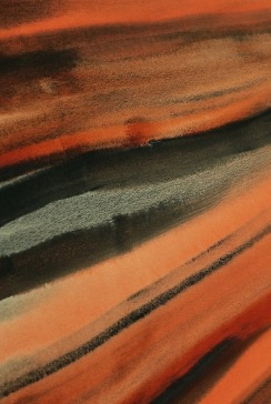 Watercolours: sienna, earth colours, mixing