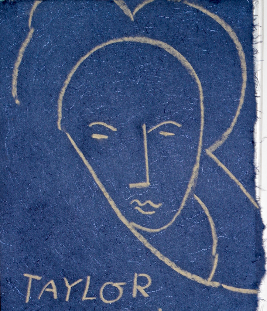 Matisse's Woman by Taylor a pastel drawing on handmade paper