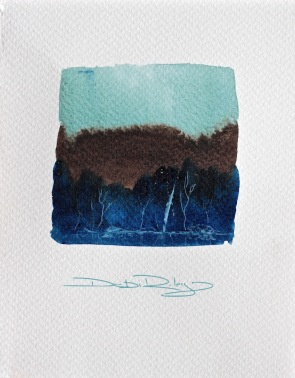 white trees watercolour landscapes debiriley.com