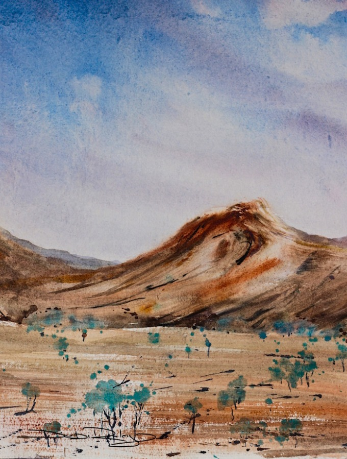 watercolour landscape, debiriley.com
