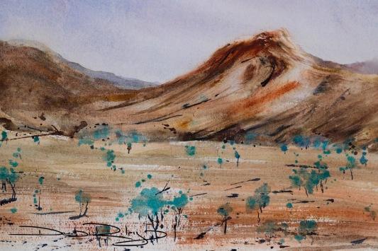 Beginners Watercolour landscapes, debiriley.com