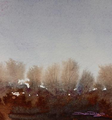 watercolour tree landscape debiriley.com