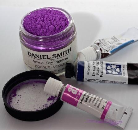 cobalt violet art spectrum, daniel smith watercolours debiriley.com