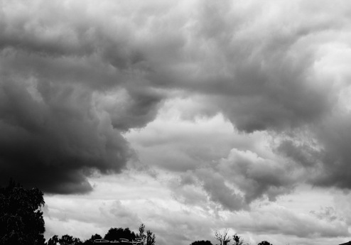 clouds in b/w photo debiriley.com